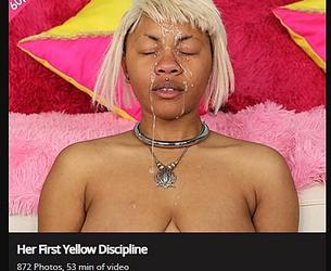 [GhettoGaggers.com] Her First Yellow Discipline [2020, Anal, Blowjob, Deep Throat, Puke, Slapping, Doggy, Cumshot, Rough Sex, Humilation, Verbal Abuse, Pissing, 1080p]