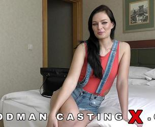 [WoodmanCastingX] Leanne Lace Casting | Shy Green eyed Czech babe with hot body stops casting midway but later goes on to get fucked (Updated 17.12.2020) [720p]