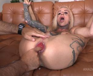 """[LegalPorno.com / AnalVids.com] Sasha Beart Testing The Handmade """"Balldog"""" Size L (With Additional Anal Fisting) TWT080 [26-07-2021, Russian, anal, anal fingering, destroyed asshole, fisting, giant dildo, huge toys, prolapse, real orgasm, squirting, tattoo, 1080p]"""